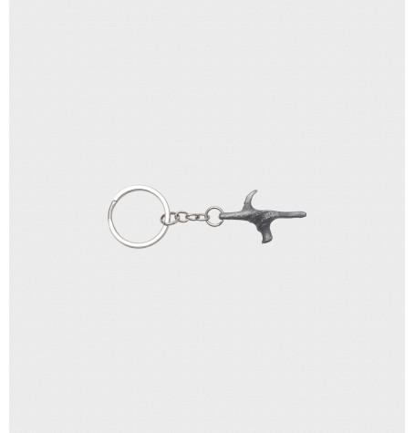 Schlüsselanhänger Pistolengriff blank